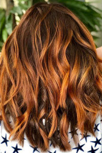 copper red balayage, TOP HAIRDRESSERS IN AMERSHAM, BUCKS