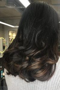 brunette balayage, award-winning hairdressers in Amersham - Gatsby & Miller Concept Salon