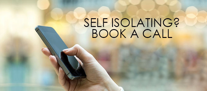 Self Isolating Book A Call banner