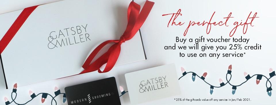christmas giftcard offer, gatsby & miller hair salon in amersham