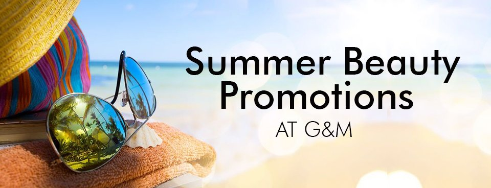 SUMMER BEAUTY PROMOTIONS AT GATSBY & MILLER HAIR & BEAUTY SALON IN AMERSHAM